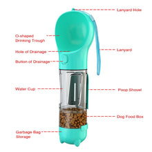 Load image into Gallery viewer, 5-in-1 Dog Container: Water, Food, Bags, Scooper, Bowl: Free Shipping