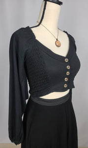 Mazzy Buttoned Crop Top