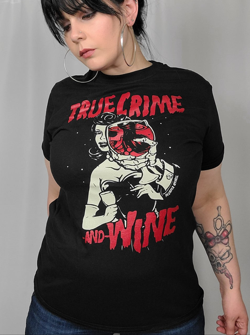 True Crime and Wine Tee