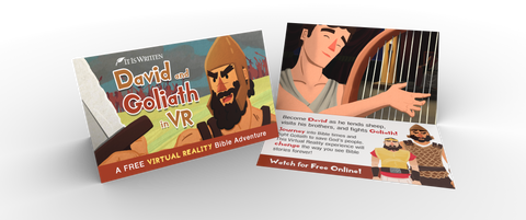 Media Sharing Cards - David and Goliath VR (Pack of 100)