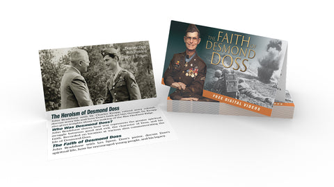 Media Sharing Cards - Desmond Doss (Pack of 100)-0