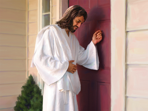 Inspirational Postcard - Jesus At The Door-0
