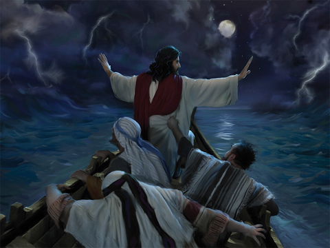 Inspirational Postcard - Jesus In The Storm-0