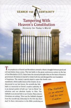 Search For Certainty #13 - Tampering With Heaven's Constitution-0