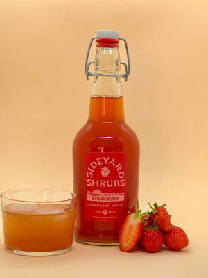 Sideyard Shrubs - Strawberry Drinking Vinegar Shrub - 500ml