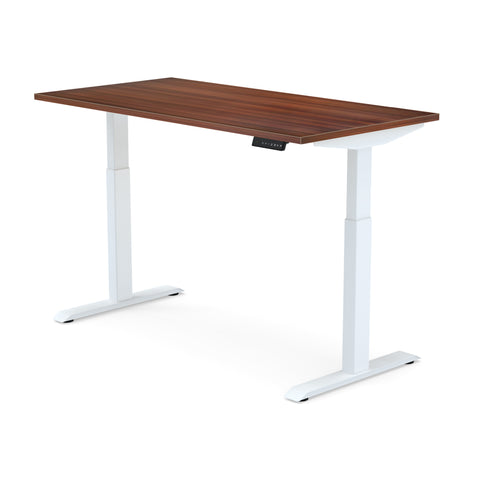 Dual Motor | Height-Adjustable Desk with Walnut Laminate Table-Top (2 Stage)