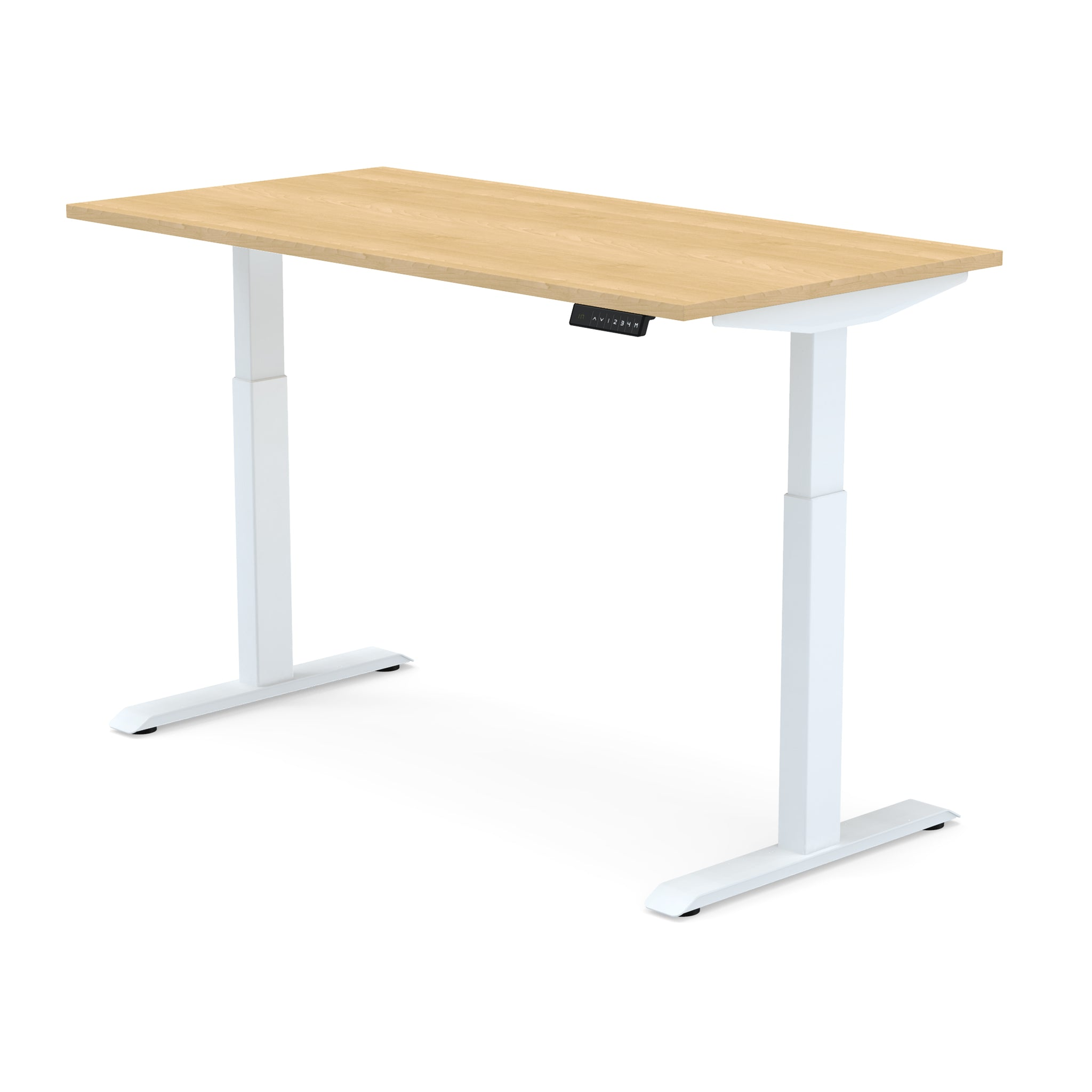 Dual Motor | Height-Adjustable Desk with Maple Laminate Table-Top (2 Stage)