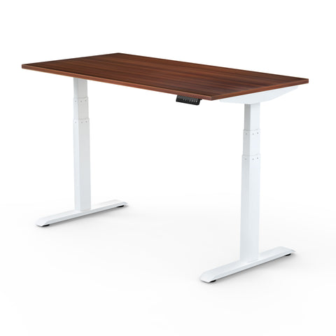 Dual Motor | Height-Adjustable Desk with Walnut Laminate Table-Top (3 Stage)