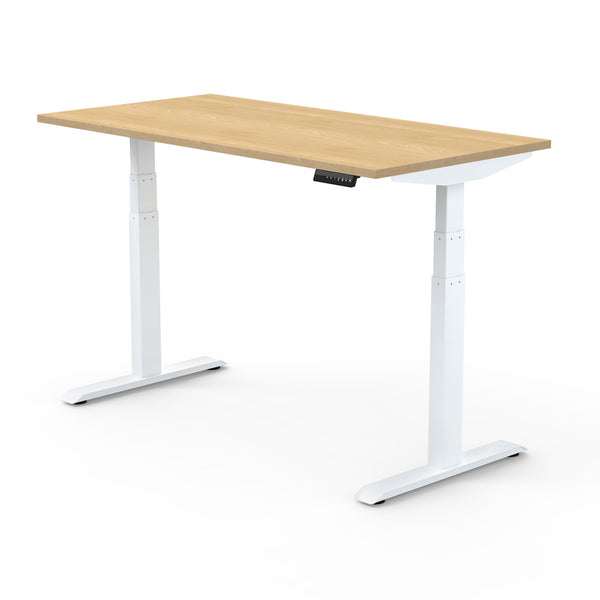 Dual Motor | Height-Adjustable Desk with Maple Laminate Table-Top (3 Stage)