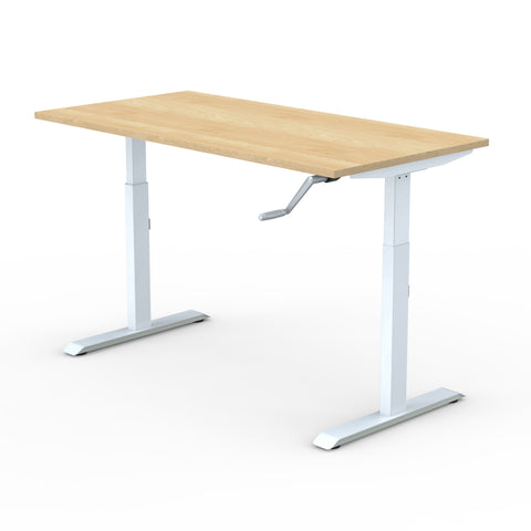 Manual | Height-Adjustable Desk with Maple Laminate Table-Top (2 Stage)