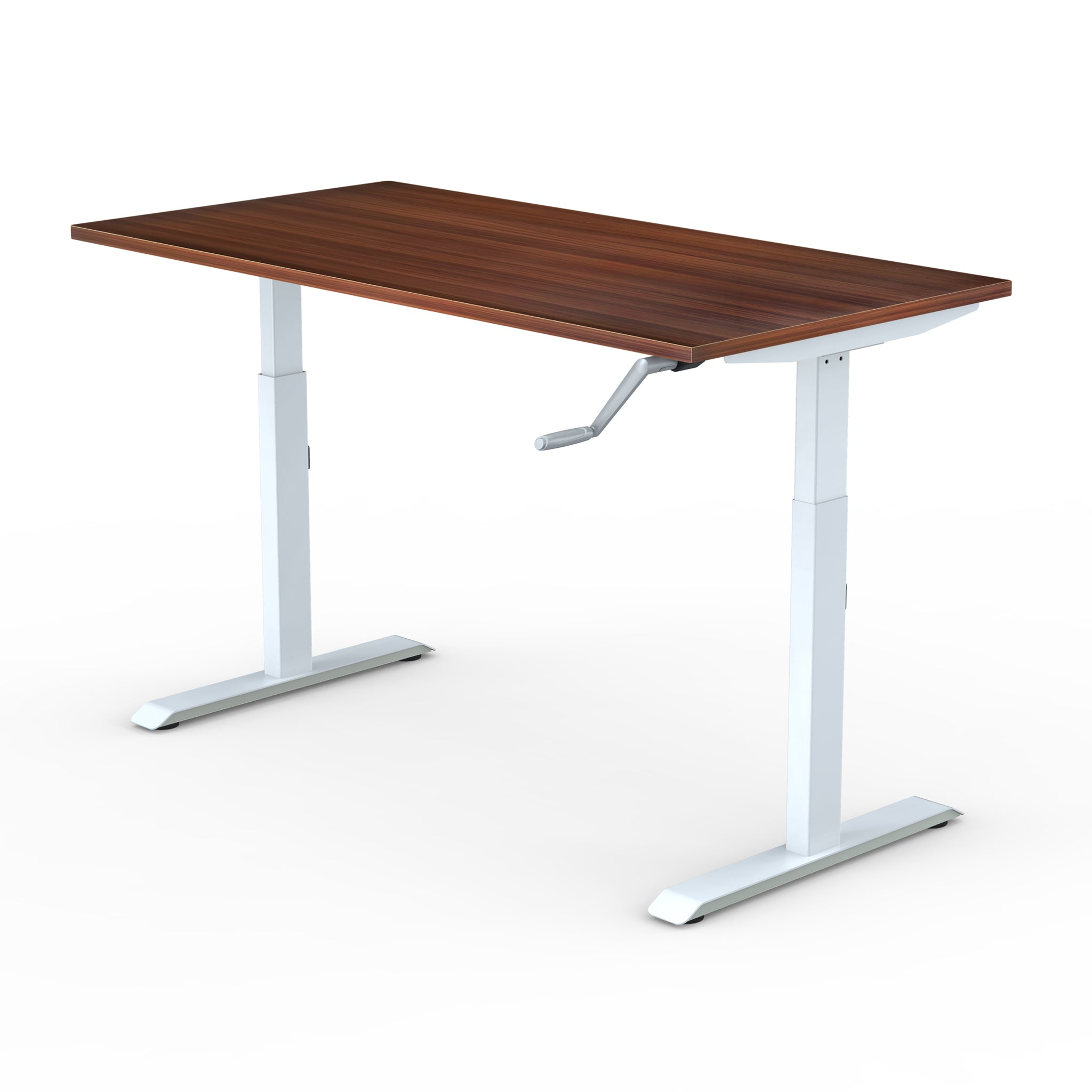 Manual | Height-Adjustable Desk with Walnut Laminate Table-Top (2 Stage)