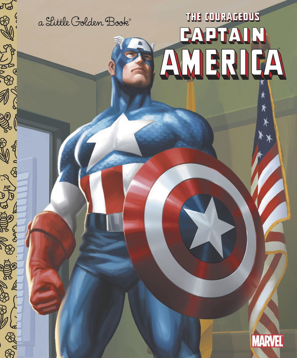COURAGEOUS CAPT AMERICA LITTLE GOLDEN BOOK - 2 Geeks Comics