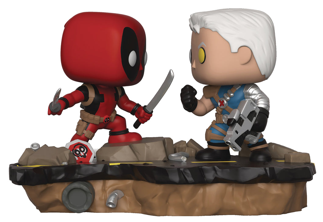 POP MARVEL COMIC MOMENT DEADPOOL VS CABLE VIN FIG (C: 1-1-2)