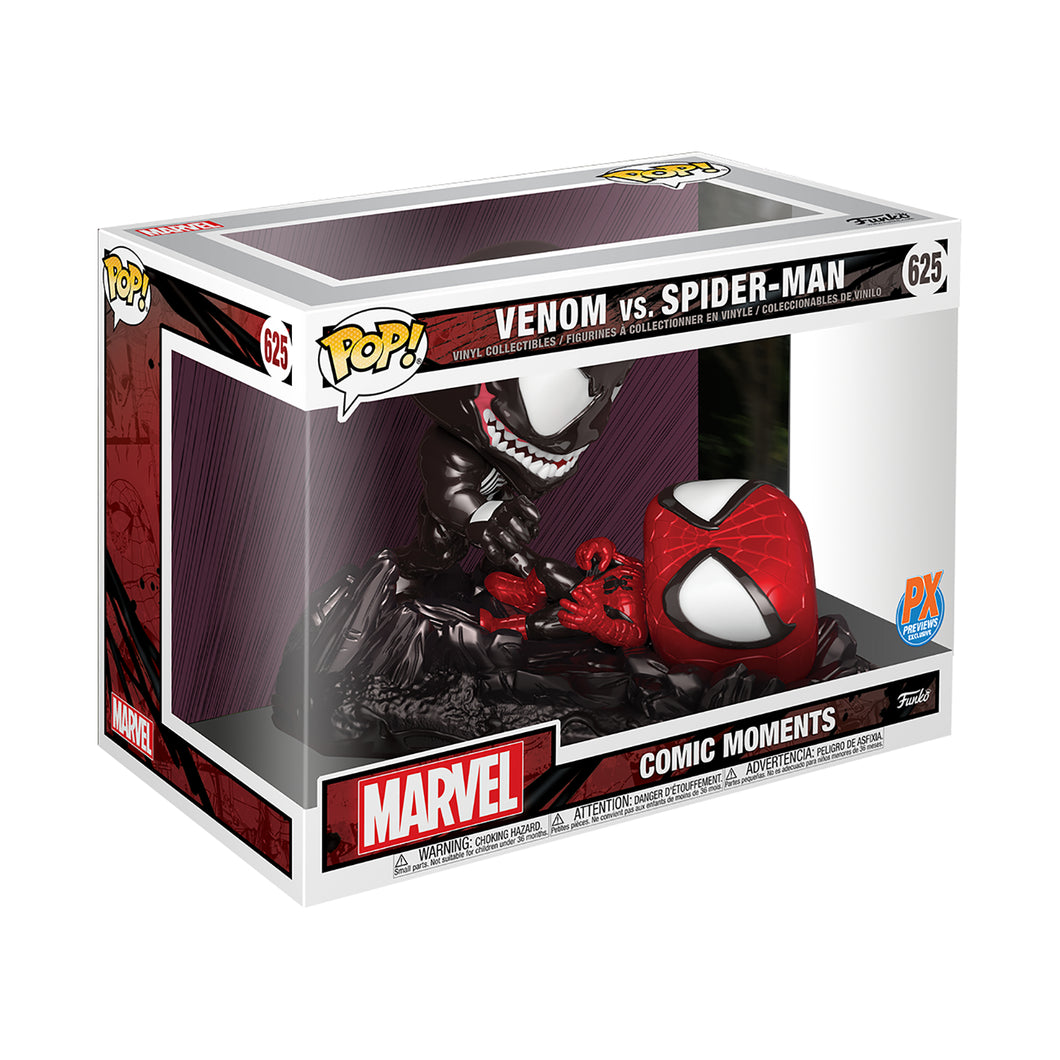 POP COMIC MOMENT MARVEL SPIDER-MAN VS VENOM METALLIC PX FIG - 2 Geeks Comics
