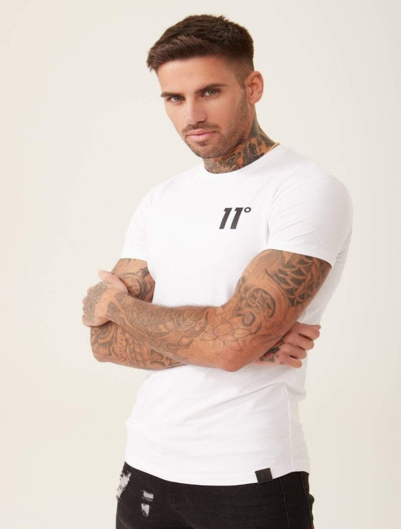 11 Degrees - Core Muscle Fitted T-Shirt - White