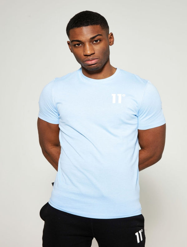 11 Degrees - Core Tee - Light Blue