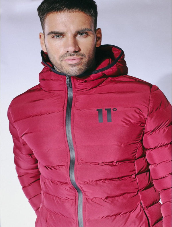 11 Degrees - Space Puffer Jacket - Burgundy