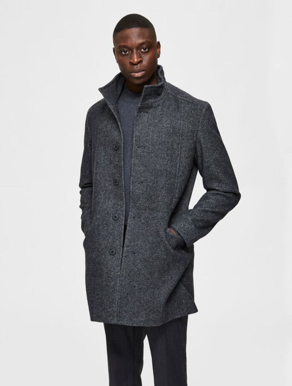 Selected - Morrison Wool Coat - Grey