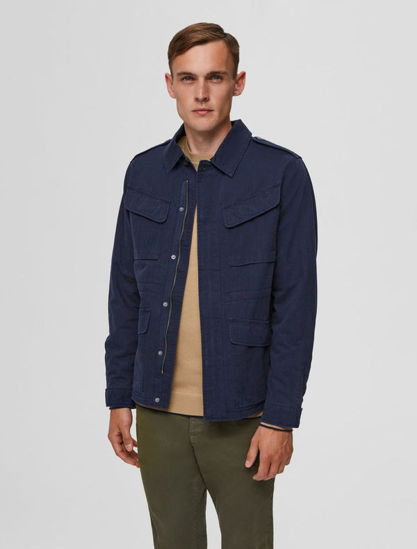 Selected - Mason Military Jacket - Navy