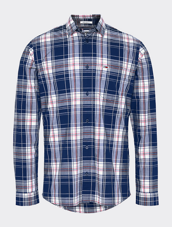 Tommy Jeans - Essential Check Shirt - Navy Check
