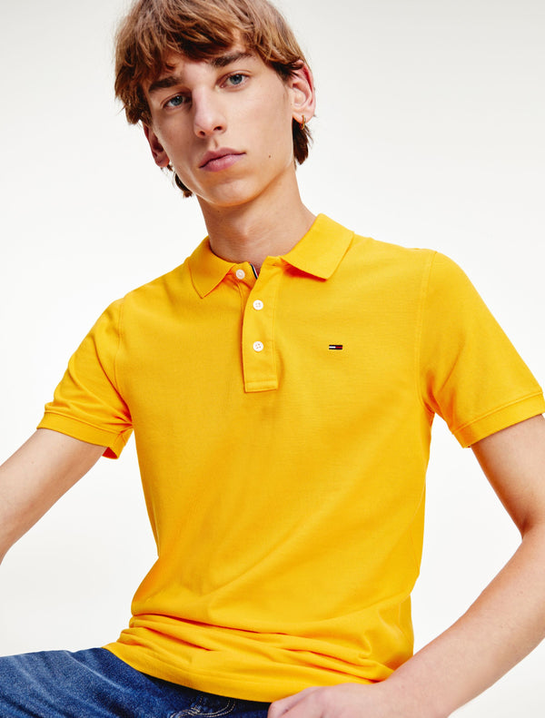 Tommy Jeans - Fine Polo Top - Yellow