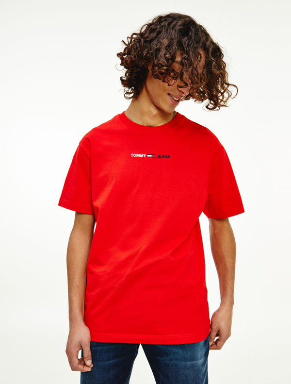 Tommy Jeans - Linear Logo Tee - Red
