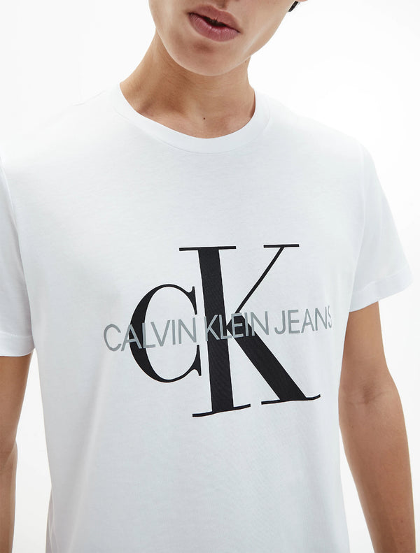 Calvin Klein - Iconic Monogram Tee - White & Black