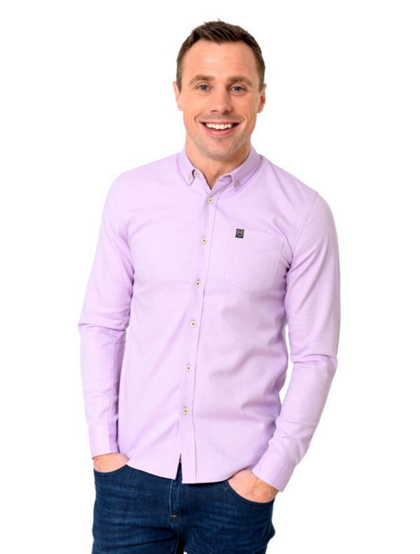 XV Kings - Numbucca Textured Shirt - Purple & Blue