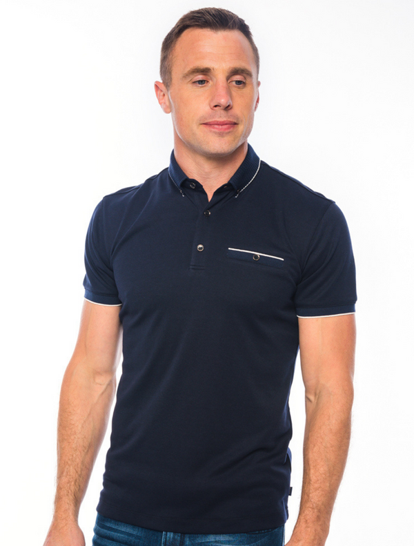 XV Kings – Potomac Trim Polo Top – Navy