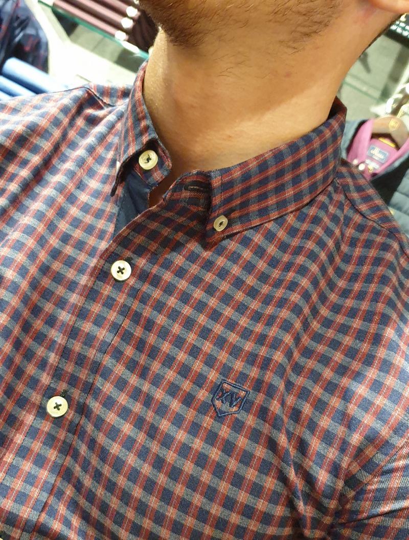 XV Kings - Hudders Check Shirt - Burgundy Check