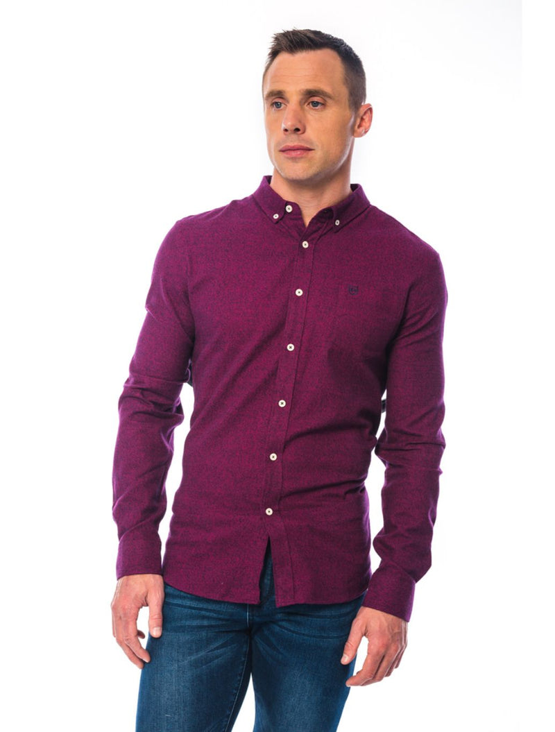 XV Kings - Catalan Flannel Shirt - Burgundy