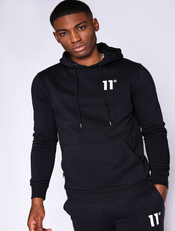 11 Degrees - Pullover Hoodie - Black