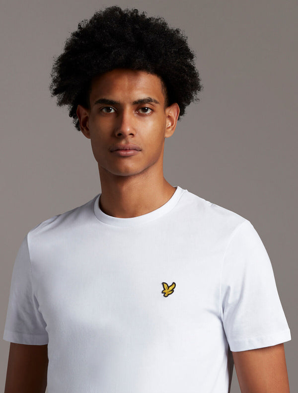 Lyle & Scott - Plain Logo T-Shirt - White & Navy