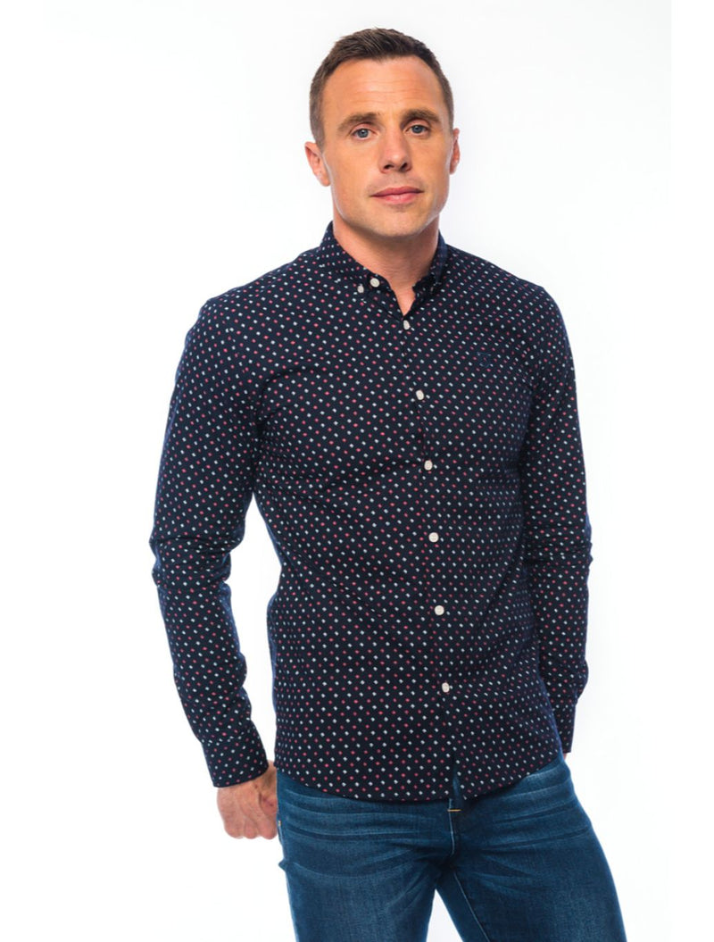 XV Kings – Marist Printed Shirt – Navy