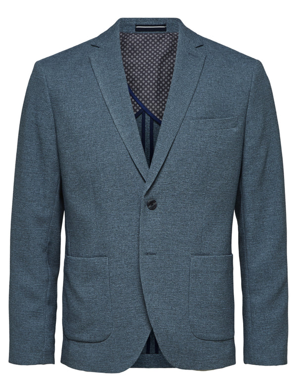 Selected - Diego Fitted Suit Blazer - Blue