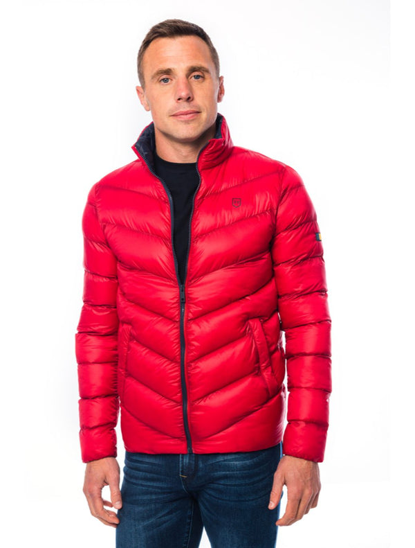 XV Kings - Rowdies Puffer Jacket - Khaki - Navy - Red