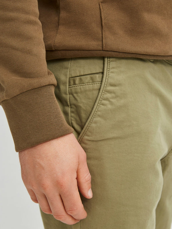 SELECTED - FLEX CHINO - light GREEN