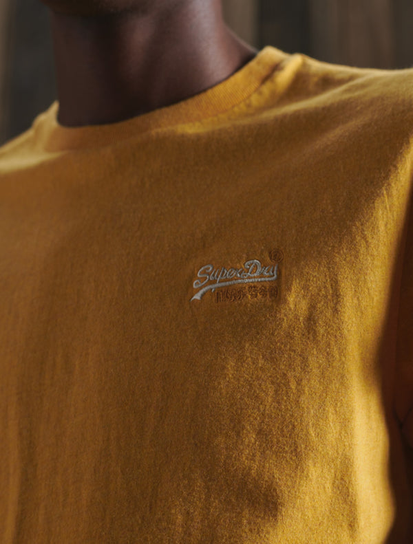 Superdry - Vintage Plain T-Shirt - Yellow & Grey