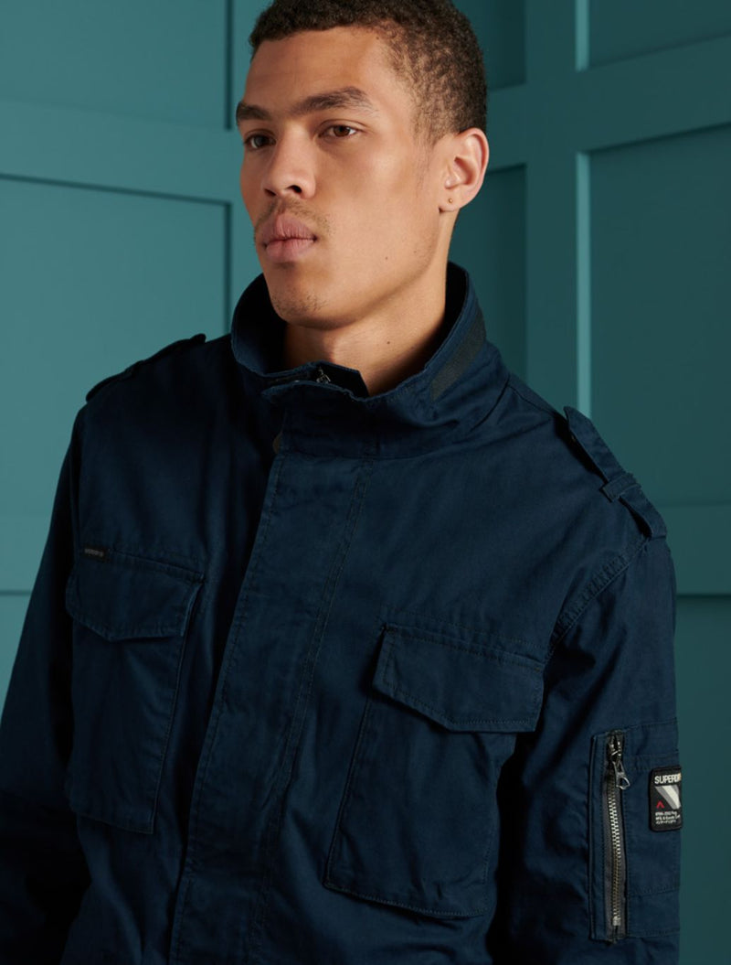 Superdry - Rookie Military Style Jacket - Navy