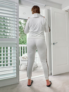 Sassy Tracksuit - Pants - White Leopard