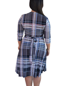 Taylor Wrap Dress - Perky Plaid