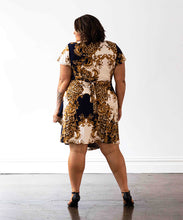 Load image into Gallery viewer, Hollywood Wrap Dress - Baroque Print