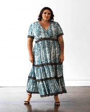 Load image into Gallery viewer, Venice Maxi Dress - Teal Snakeprint