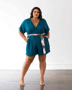 Havana Playsuit - Teal