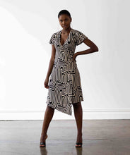 Load image into Gallery viewer, Hollywood Wrap Dress - Maze Print