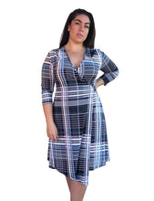 Load image into Gallery viewer, Taylor Wrap Dress - Perky Plaid