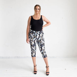 Tigerlily Capri Pants in Cosmos Print