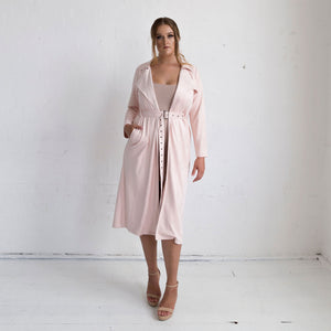 Viola Suede Coat - Rose Quartz