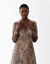 Load image into Gallery viewer, Vancouver Wrap Dress - Velvet Cheetah Print