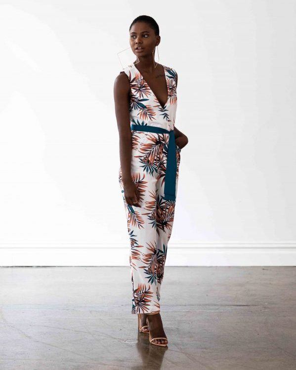 Miami Jumpsuit - Palm Leaf Print